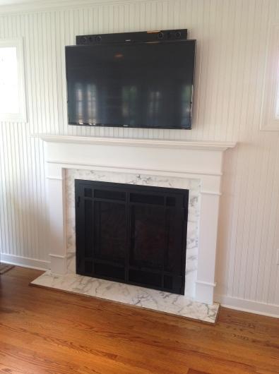 Custom Fireplace & Mantle